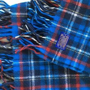 Pendleton Blanket Throw Plaid Wool Fringe Vintage